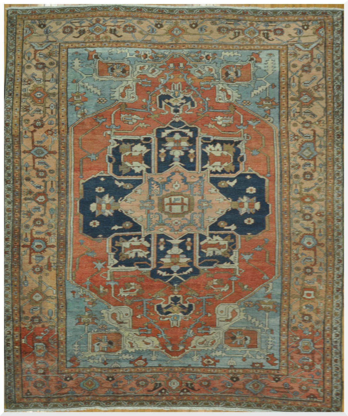 Antique Hand Knotted Persian Serapi Rug Surena Rugs