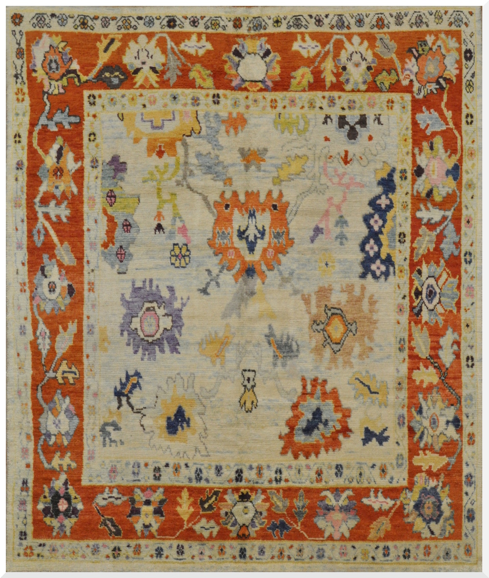 Room Size Hand Knotted Oushak Rug Surena Rugs