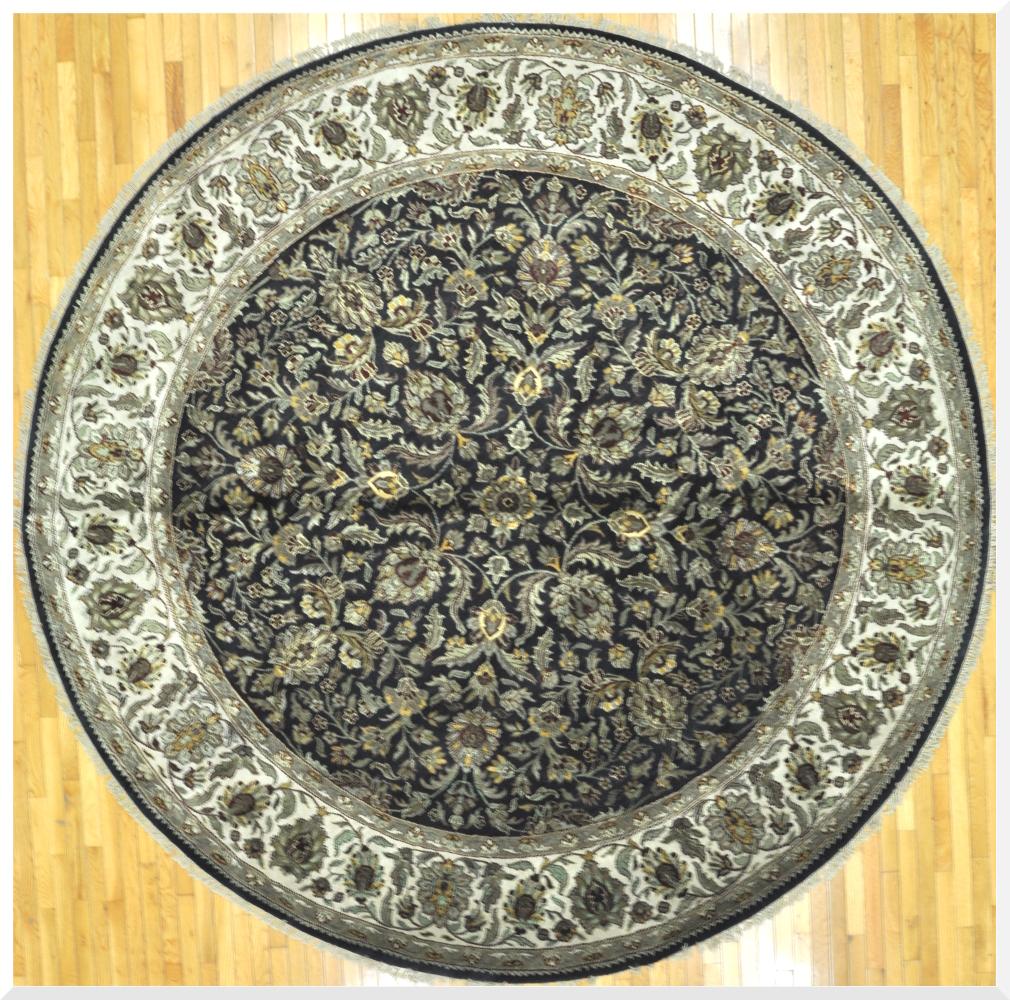 Round Handmade Oriental Rug