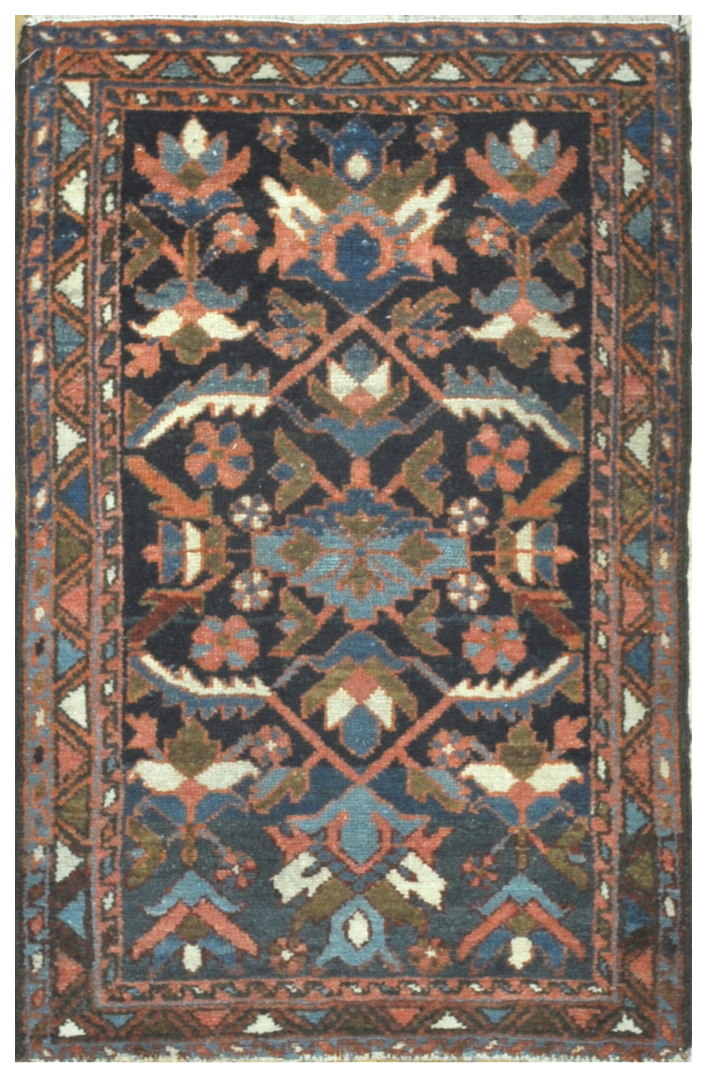 Small Antique Hand Knotted Wool Persian
